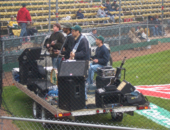 The Whiskey Lash All stars entertain the pre-game crowd
