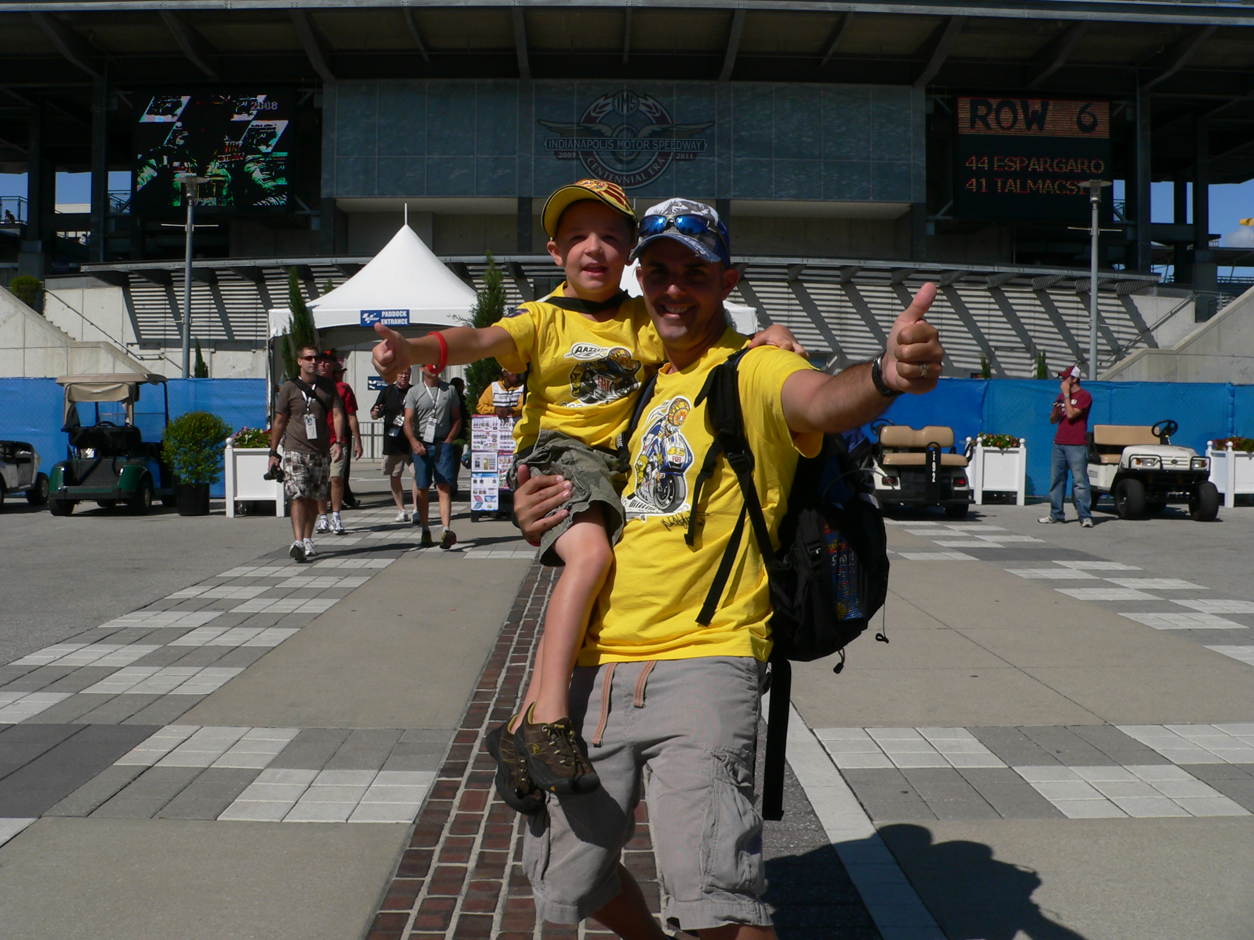 Brook and Dylan at Indianapolis Motor Speedway