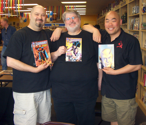 KC flanked by former Legionnaire artists, Cory Carani &amp; Jeff Moy