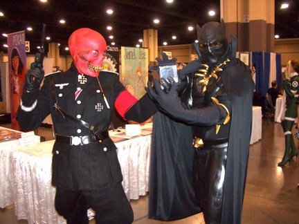 Occasionally a fight would break out such as this tussle between the Red Skull and the Black Panther.