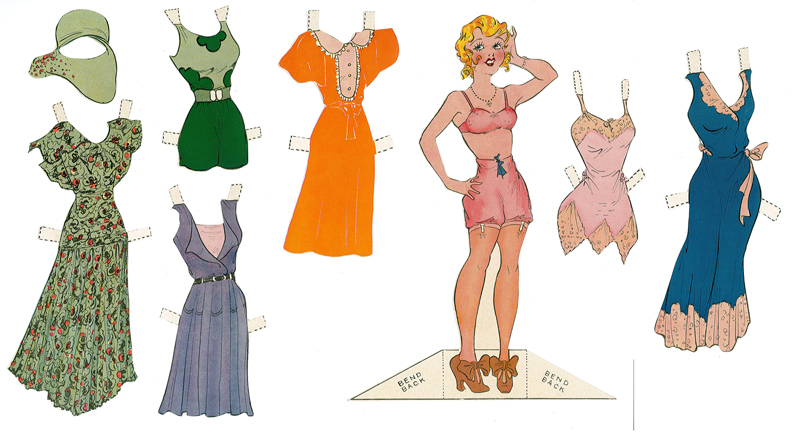 """Blondie Like You've Never Seen Her Before"" indeed! Owners of this 1930s-vintage paper doll set saw Blondie depicted in her unmentionables."