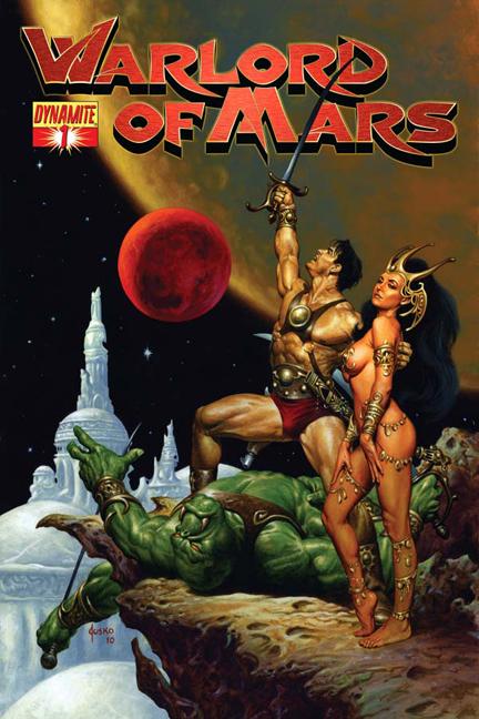 Warlord of Mars cover by Joe Jusko
