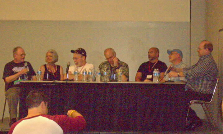 80s panel with John Workman, Louise & Walter Simonson, Marv Wolfman, Matt Wagner, Timothy Truman, and Mark Waid
