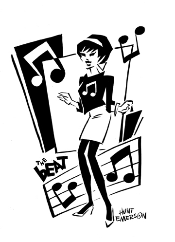 The English Beat's Beat Girl in a commission by her designer, cartoonist Hunt Emerson. From the Ash collection.