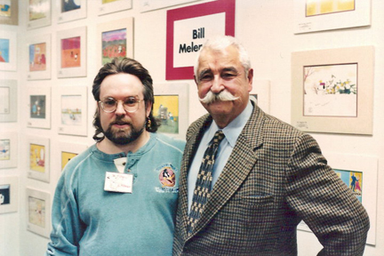 Me with animation legend, Bill Melendez who's best known for his work on the Peanuts specials.