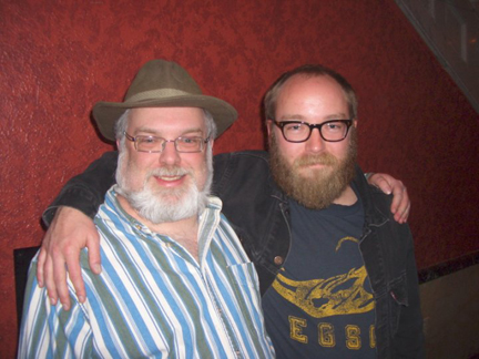 Me with rising stand-up star, Kyle Kinane.
