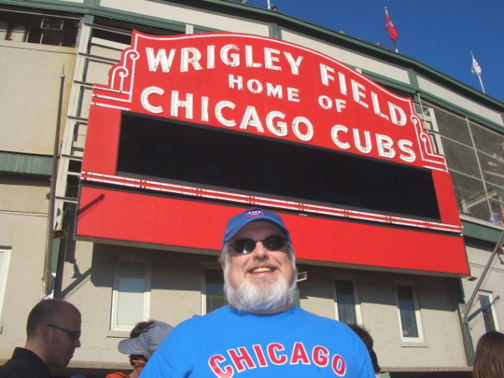 Me at one of my favorite places, Wrigley Field