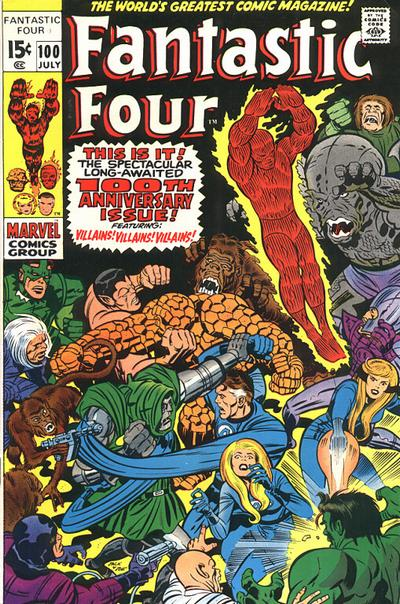 Fantastic Four #100. Art by Jack Kirby