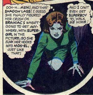 Duo Damsel laments from Adventure Comics #369. Art by Curt Swan.