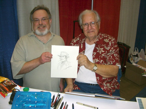 Roger Ash with the legendary Nick Cardy