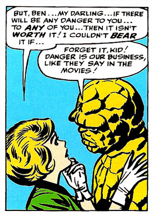 Alicia & Ben from Fantastic Four #19. Art by Jack Kirby.