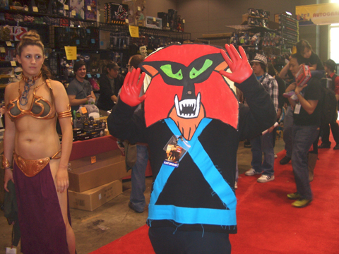 It's Brak!! Leia doesn't look pleased.