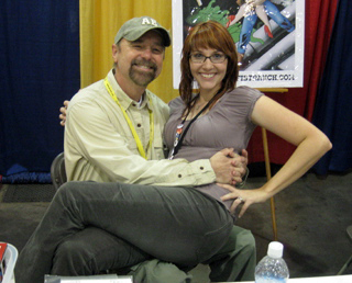 Beau with Lora Innes