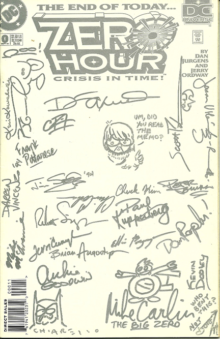 KC's signed Zero Hour #0