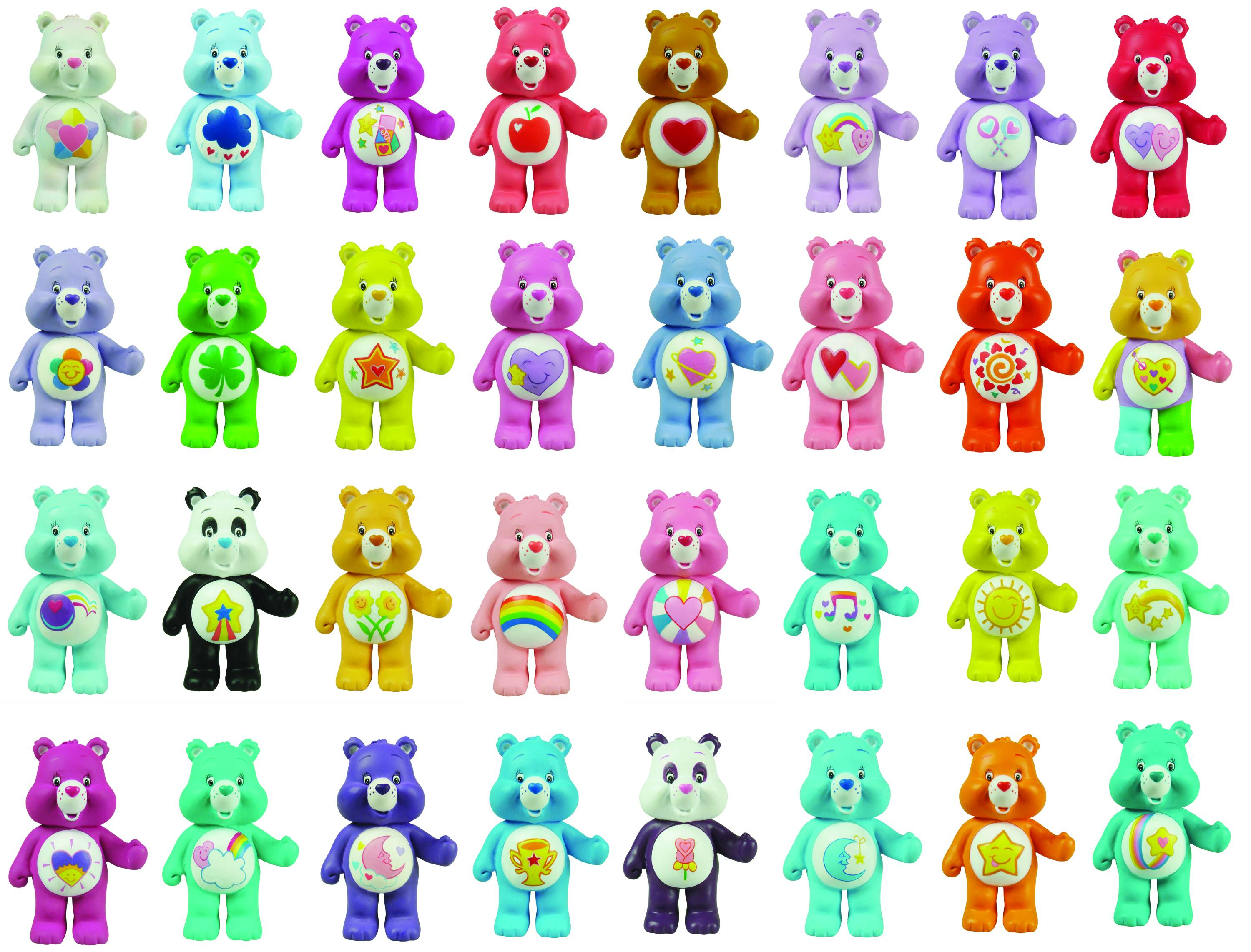 image regarding Care Bear Belly Badges Printable called Treatment Bears Names Figures -