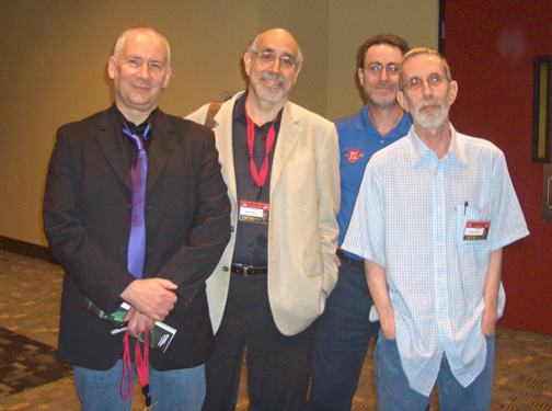 Kevin Maguire, JM DeMatteis, moderator Bob Greenberger, and Keith Giffen.