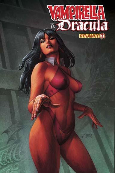 Vampirella Vs. Dracula #1 cover by Joseph Michael Linsner