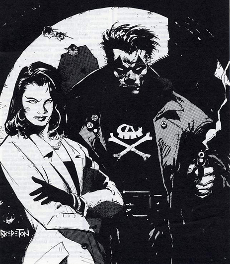 Black Terror from the cover of The Westfield Newsletter