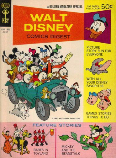 Walt Disney Comics Digest #1. The cover of my copy of this issue is pretty tattered.