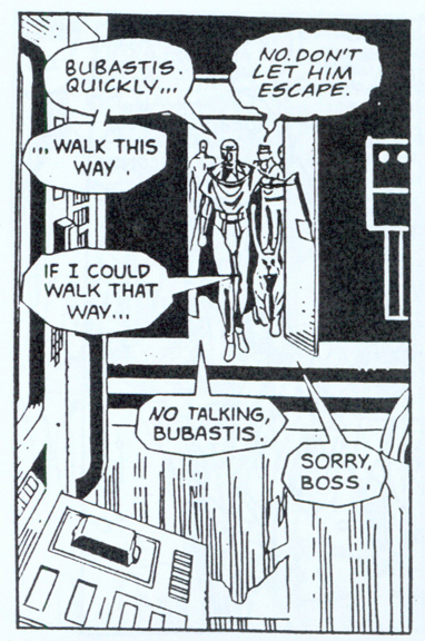An altered Watchmen panel