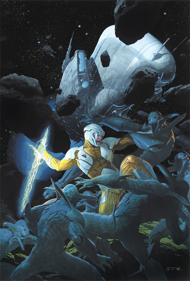 X-O Manowar #1 cover by Esad Ribic