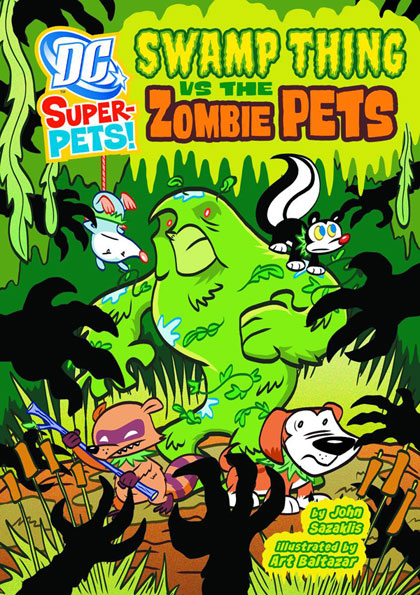 DC Super-Pets: Swamp Thing vs. The Zombie Pets