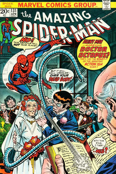 Aunt May marries Doc Ock? From Amazing Spider-Man #131
