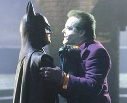 Batman (Michael Keaton) &amp; the Joker (Jack Nicholson)