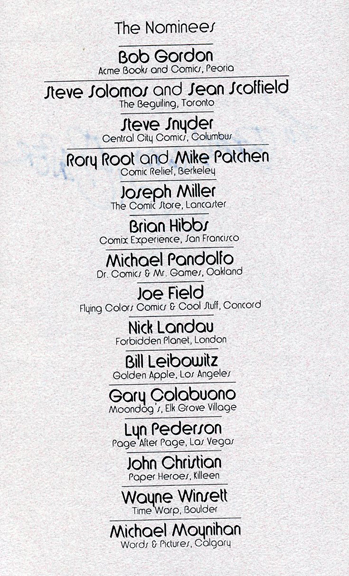 The Nominees of 1993.