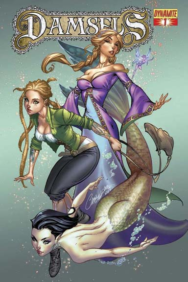 Damsels #1 cover by J. Scott Campbell