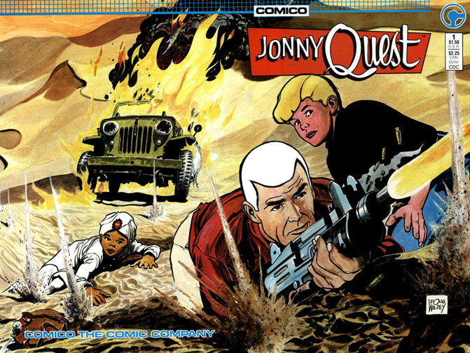 Jonny Quest #1. Cover by Doug Wildey.