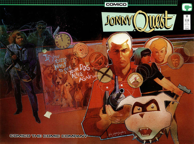 Jonny Quest #11. Cover by Bill Sienkiewicz.