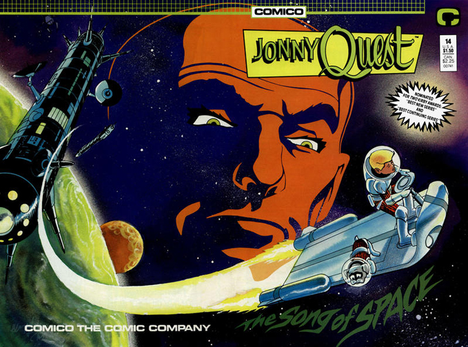 Jonny Quest #14. Cover by Marc Hempel & Mark Wheatley.