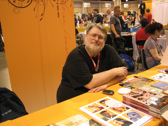 KC at the Immonen's table.