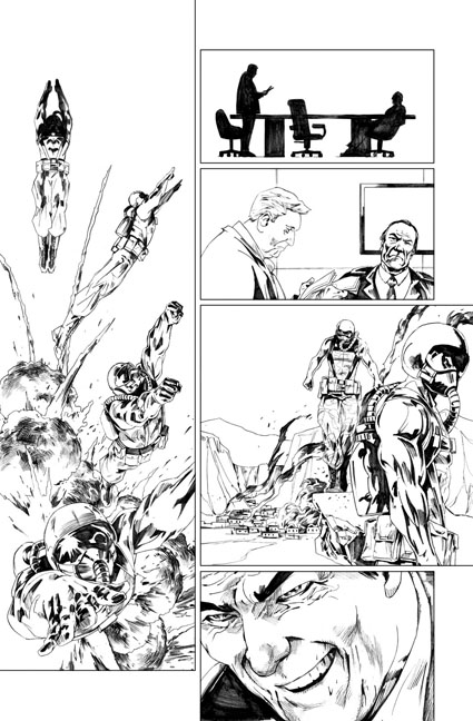 Peter Cannon: Thunderbolt #1 preview page 18 by Jonathan Lau