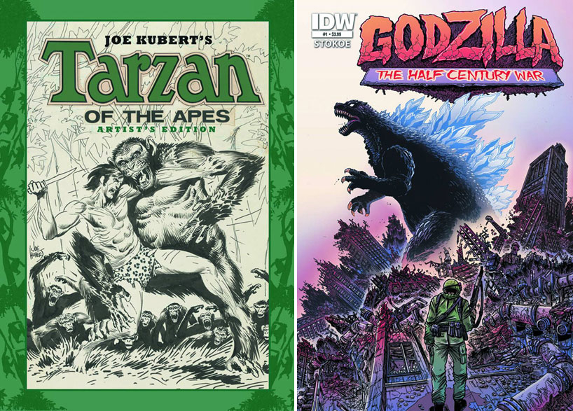 Joe Kubert's Tarzan of the Apes: Artist's Edition & Godzilla: The Half-Century War