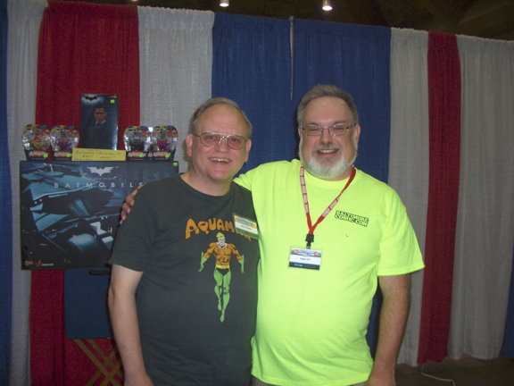 KC's not big on taking photos, so that's why you get a photo of John Workman & Westfield's Roger Ash at the Baltimore Comic-Con. Photo by John's wife, Cathy.