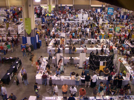 The HeroesCon floor in 2010.