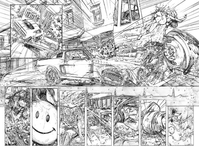 Evil Ernie preview pages 2 &amp; 3. Art by Jason Craig