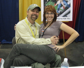 Beau Smith With Lora Innes (The Dreamer) In The Lap Of Luxury. Proving There Is Real Joy In Comic Books!