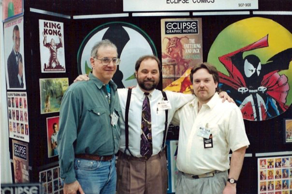 Larry Marder, Beau Smith, and your truly from 1993.