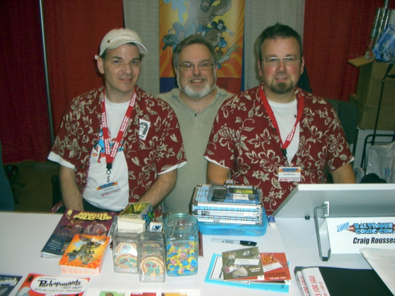 Todd Dezago, me, and Craig Rousseau from Baltimore Comic-Con 2008.