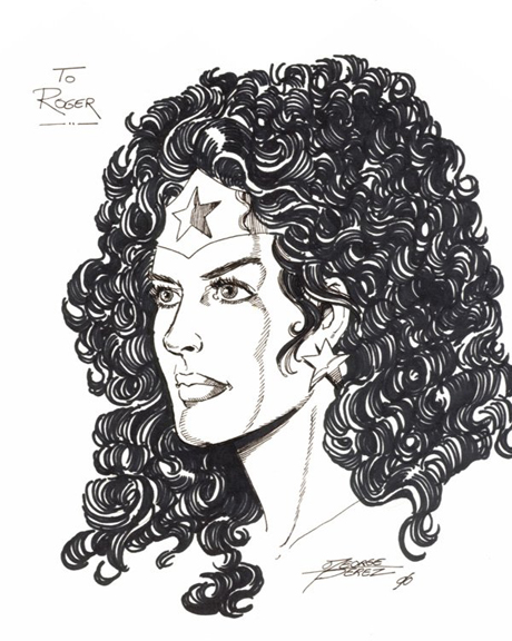 A Wonder Woman piece George Perez did for me back in 1996.