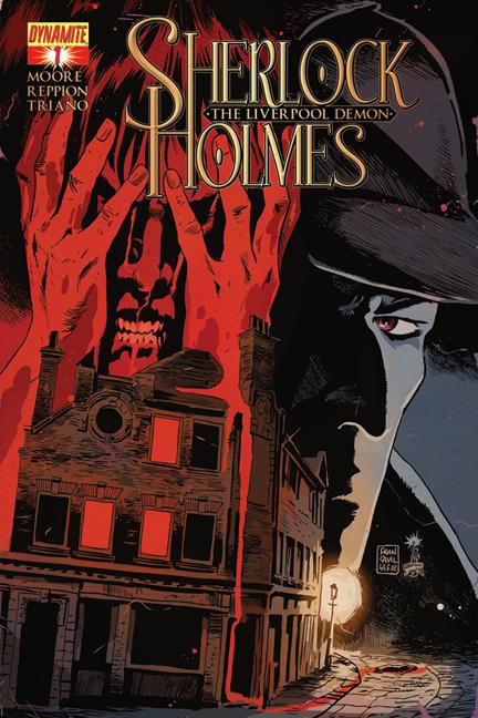 Sherlock Holmes: The Liverpool Demon #1 cover. Art by Francesco Francavilla.