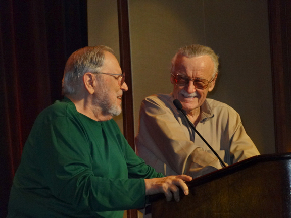 John Romita &amp; Stan Lee at the Harvey Awards.