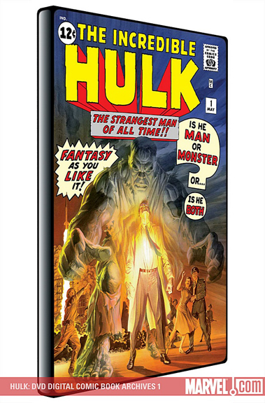 Cover art from Marvel's unproduced Hulk DVD-Rom