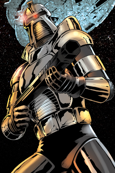 Cylon from the classic Battlestar Galactica.