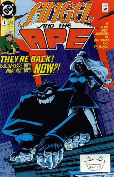 Angel and the Ape #1 (1991). Cover by Phil Foglio & Keith Wilson.
