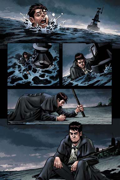 Jim Butcher's Dresden Files: Ghoul Goblin #1 page 7. Art by Joseph Cooper.