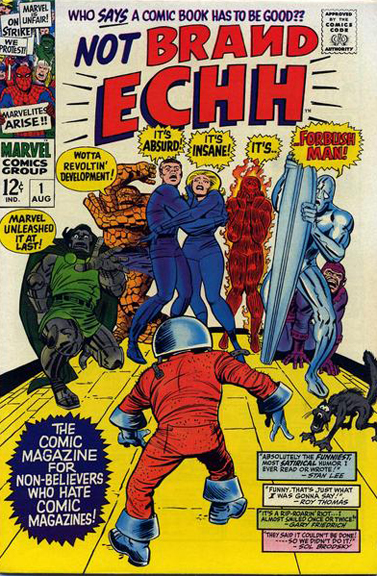 Not Brand Echh #1. Cover by Jack Kirby & Mike Esposito.